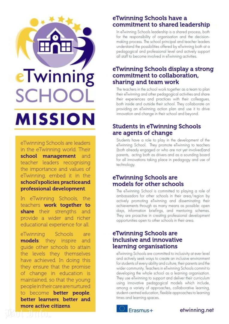 eTwinning School Mission