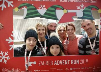 Boljani u Zagrebu na utrci Advent run 2019.