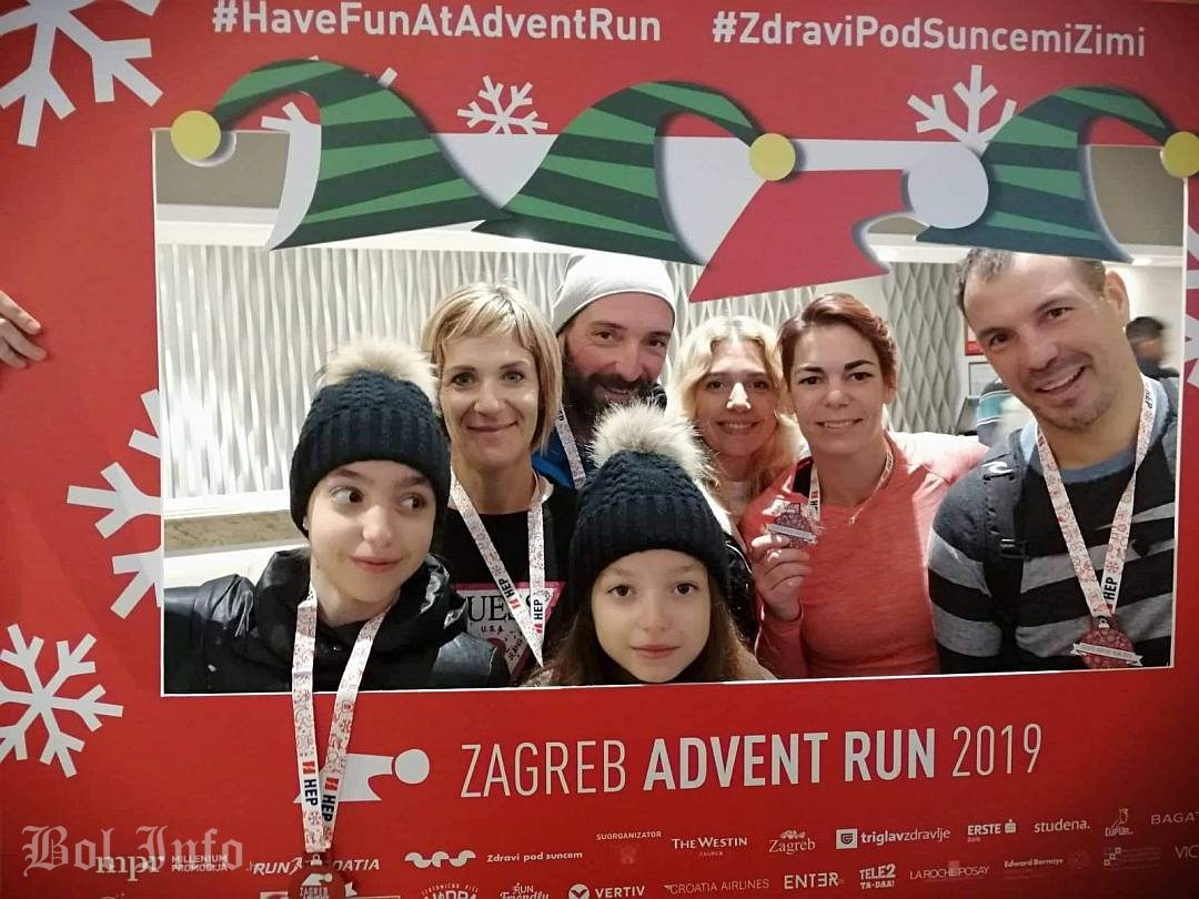 Boljani u Zagrebu na utrci Advent run